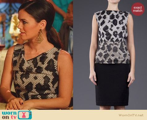 Balenciaga Hostess Dress worn by Rachel Bilson on Hart of Dixie