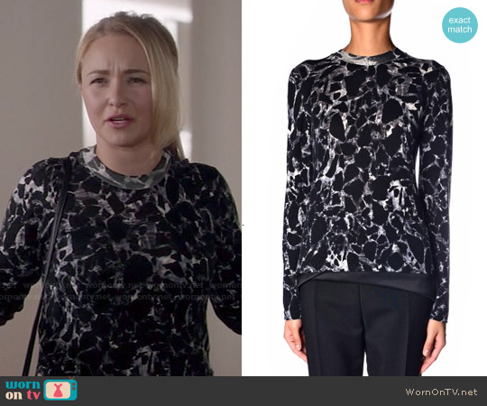 Balenciaga Marble Print Sweater worn by Hayden Panettiere on Nashville