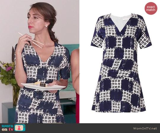 Balenciaga Scribble Check Dress worn by Necar Zadegan on GG2D