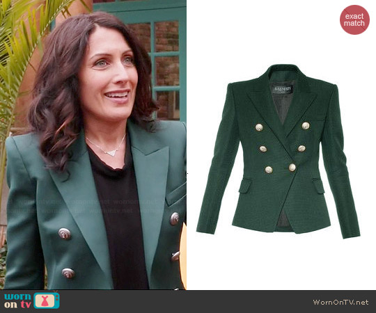 Balmain Double Breasted Blazer worn by Lisa Edelstein on GG2D