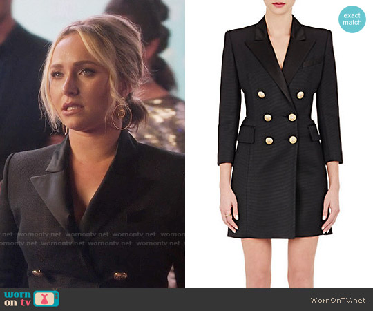 Balmain Double Breasted Coatdress worn by Hayden Panettiere on Nashville