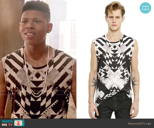 Balmain Sleeveless Geometric T-shirt worn by Bryshere Y. Gray on Empire