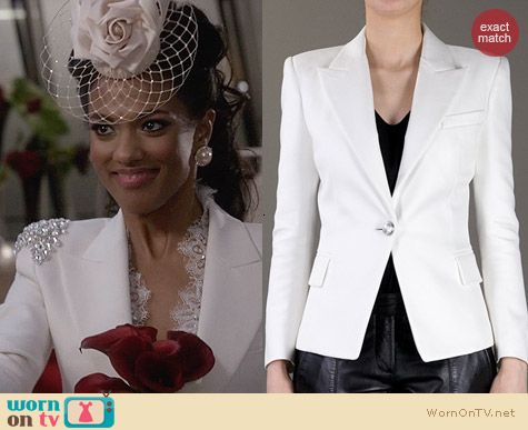 Balmain Structured Balzer worn by Freema Agyeman on The Carrie Diaries