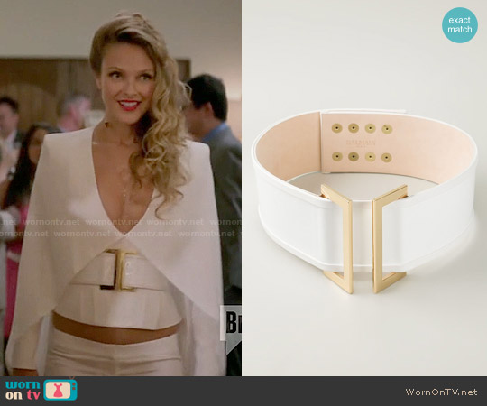 Balmain Classic Belt worn by Phoebe Wells on GG2D