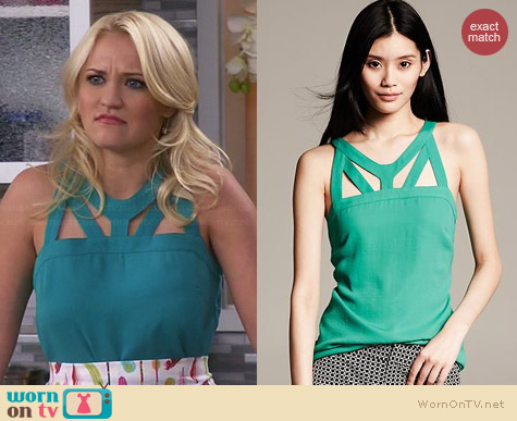 Banana Republic Cutout Tank worn by Emily Osment on Young & Hungry