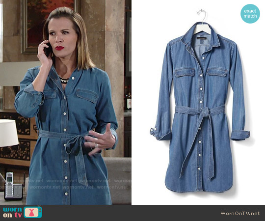 Banana Republic Denim Shirtdress worn by Melissa Claire Egan on The Young & the Restless