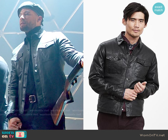 Banana Republic Genuine Leather Shirt Jacket worn by Jussie Smollett on Empire