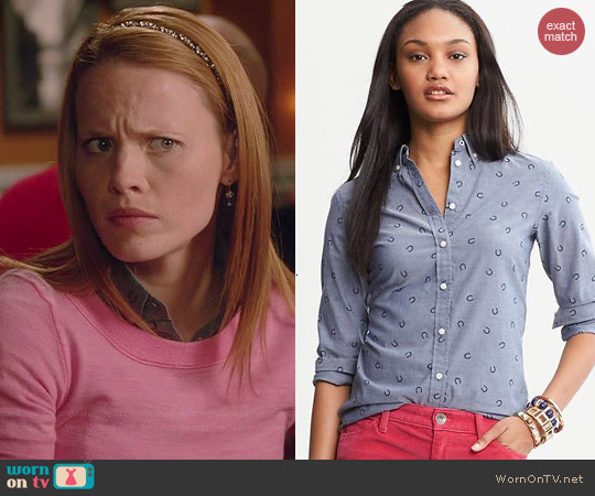 Banana Republic Horseshoe Print Chambray Shirt worn by Katie Leclerc on Switched at Birth
