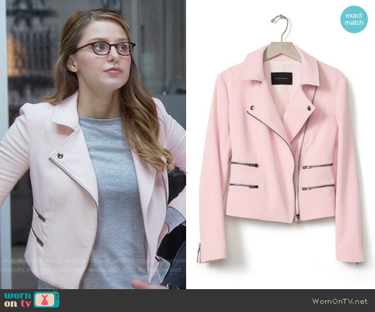 Banana Republic Multi Zip Moto Jacket worn by Melissa Benoist on Supergirl