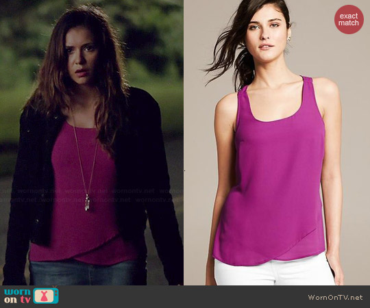 Banana Republic Racerback Tank worn by Nina Dobrev on The Vampire Diaries