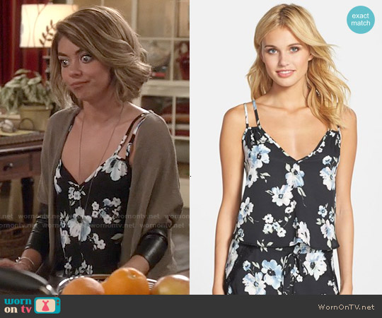 Band of Gypsies Double Strap Cami in Black Sky worn by Sarah Hyland on Modern Family
