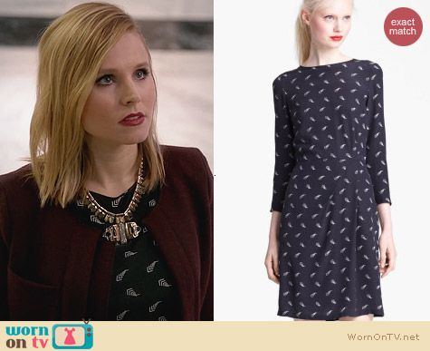 Band of Outsiders Arrow Print Silk Dress worn by Kristen Bell on House of Lies