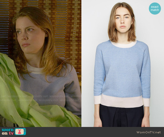 Band of Outsiders Colorblocked Knit Sweater worn by Gillian Jacobs on Community