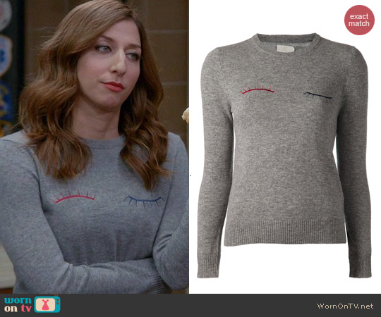 Band of Outsiders Eyelash Sweater worn by Chelsea Peretti on Brooklyn 99