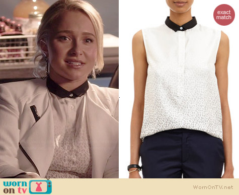 Band of Outsiders Ombre Leopard Print Top worn by Hayden Panettiere on Nashville
