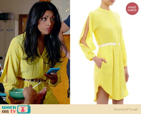 Band of Outsiders Slit-Sleeve Shritdress worn by Reshma Shetty on Royal Pains