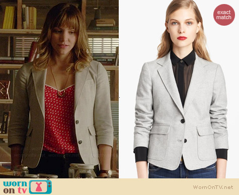 Band of Outsiders Tweed Schoolboy Blazer worn by Katharine McPhee