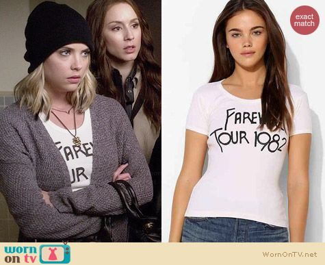 Bandit Brand Farewell Tour Tee worn by Ashley Benson on PLL
