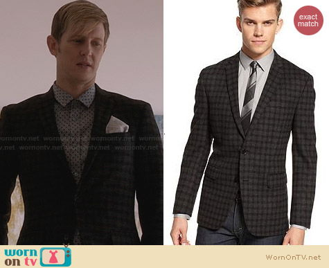 Bar III Charcoat Check Sports Jacket worn by Gabriel Mann on Revenge