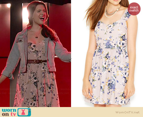Bar III Floral A-Line Dress worn by Katie Stevens on Faking It