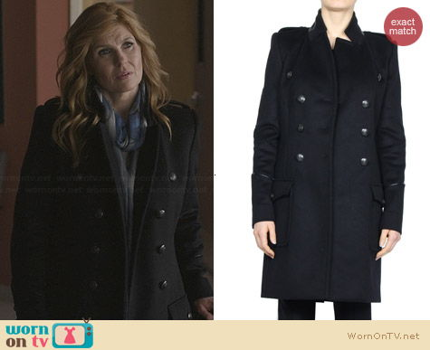 Barbara Bui Military Coat worn by Rayna James on Nashville