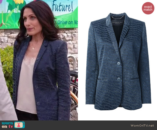 Barbara Bui Textured Blazer worn by Lisa Edelstein on GG2D