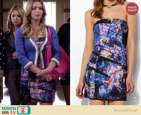 Bardot Tainted Love Dress worn by Sasha Pieterse on PLL