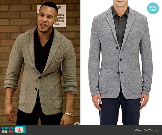 Berna Venezia Seed-Stitched Three-Button Sportcoat worn by Andre on Empire