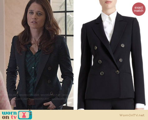 Barneys New York Double Breasted Blazer worn by Robin Tunney on The Mentalist