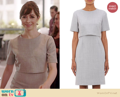 Barneys New York Layered Sheath Dress worn by Cristin Milioti on A to Z