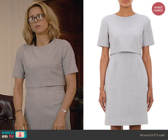 Barneys New York Layered Sheath Dress worn by Tea Leoni on Madam Secretary
