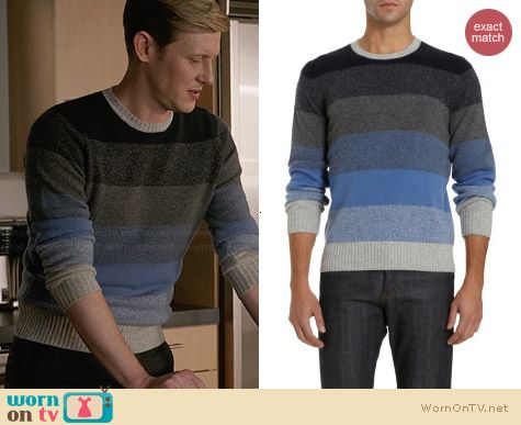 Barneys New York Multi Stripe Knit Sweater worn by Gabriel Mann on Revenge