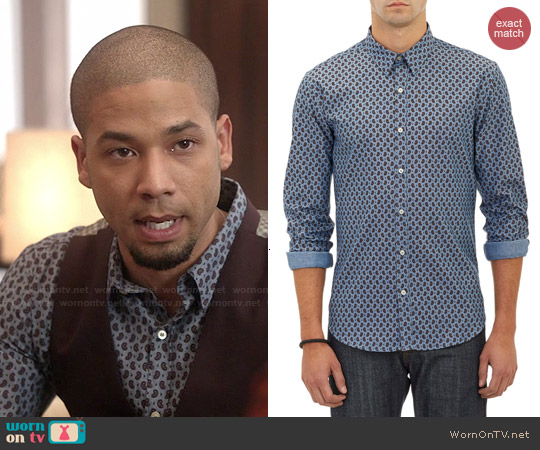 Barneys New York Paisley Oxford Cloth Shirt worn by Jussie Smollett on Empire