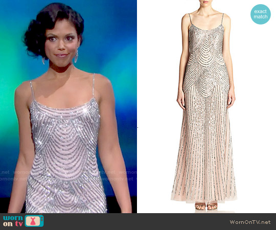 Basix Black Label Sequin Slip Gown worn by Karla Mosley on The Bold & the Beautiful