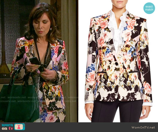 Basler Floral Print Blazer worn by Lauren Koslow on Days of our Lives