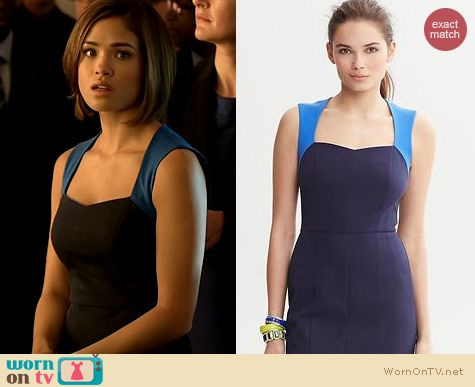 BATB Fashion: Banana Republic Sloan Colorblock Dress worn by Nicole Gale Anderson