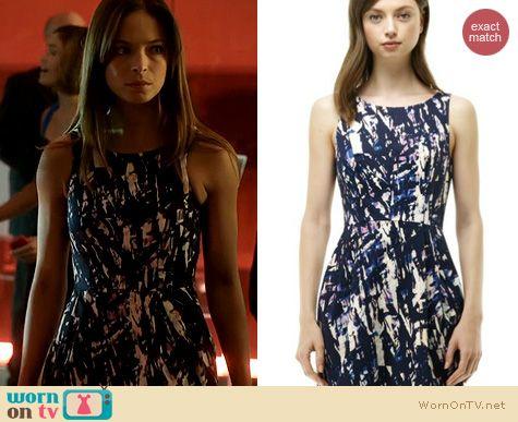BATB Fashion: Club Monaco Lanna Printed Dress worn by Kristin Kreuk