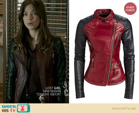 Red coat leather sleeves – Modern fashion jacket photo blog