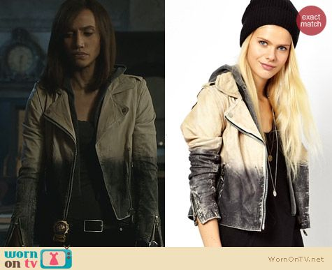 BATB Fashion: Doma Two Tone Washed Leather Jacket by Doma worn by Nina Lisandrello