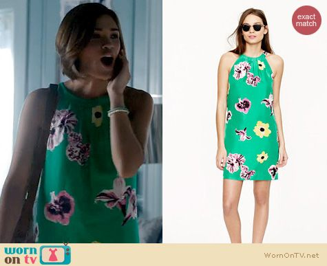 BATB Fashion: J. Crew Swoop dress in Punk Floral worn by Nicole Anderson