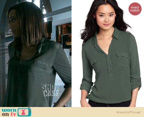 BATB Fashion: Splendid Henley Shirt worn by Nina Lisandrello