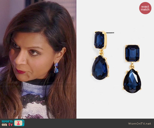 Bauble Bar Diva Drops worn by Mindy Kaling on The Mindy Project