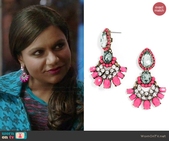 Baublebar Cha Cha Drops worn by Mindy Kaling on The Mindy Project