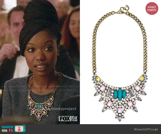 Baublebar Crystal Sprite Bib Necklace worn by Tamra on The Mindy Project
