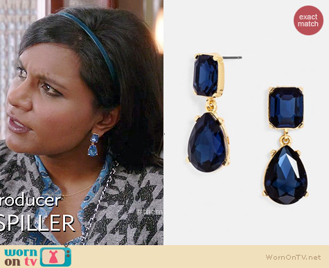 Baublebar Diva Earrings worn by Mindy Kaling on The Mindy Project