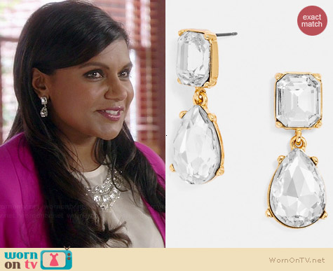 BaubleBar Diva Drops worn by Mindy Kaling on The Mindy Project