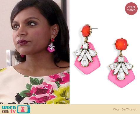 BaubleBar Gem Trumpet Drops worn by Mindy Kaling on The Mindy Project