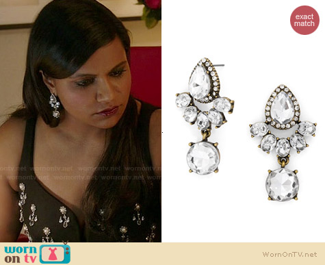 BaubleBar Rumba Gem Drops worn by Mindy Kaling on The Mindy Project