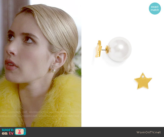 Baublebar Twinkle Stud Earrings worn by Emma Roberts on Scream Queens