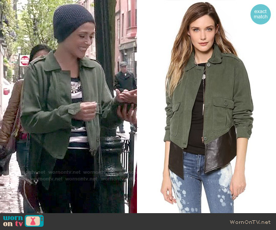 BB Dakota Dakota Collective Army Jacket worn by April Carver on Chasing Life